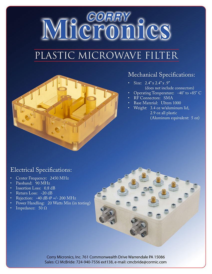 Brochure Plastic Microwave Filter
