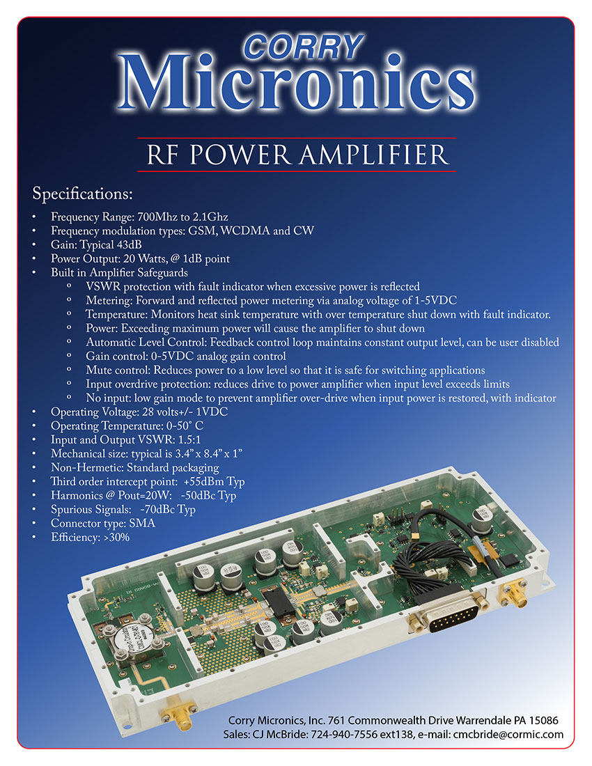 Brochure RF Power Amplifier