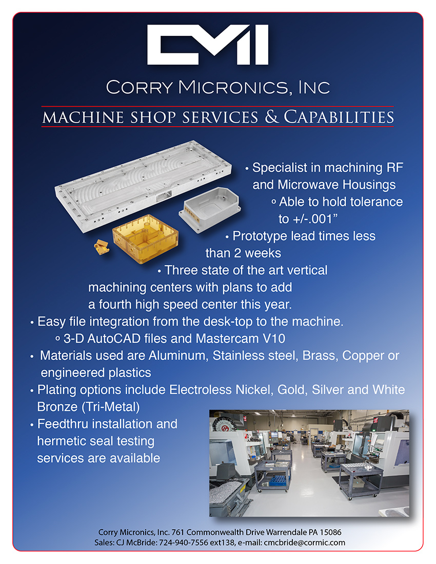 Corry Micronics Machine Shop Services