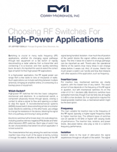 White Paper High Power Switches